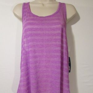 Spalding Exercise Tank Top Sz Large Purple